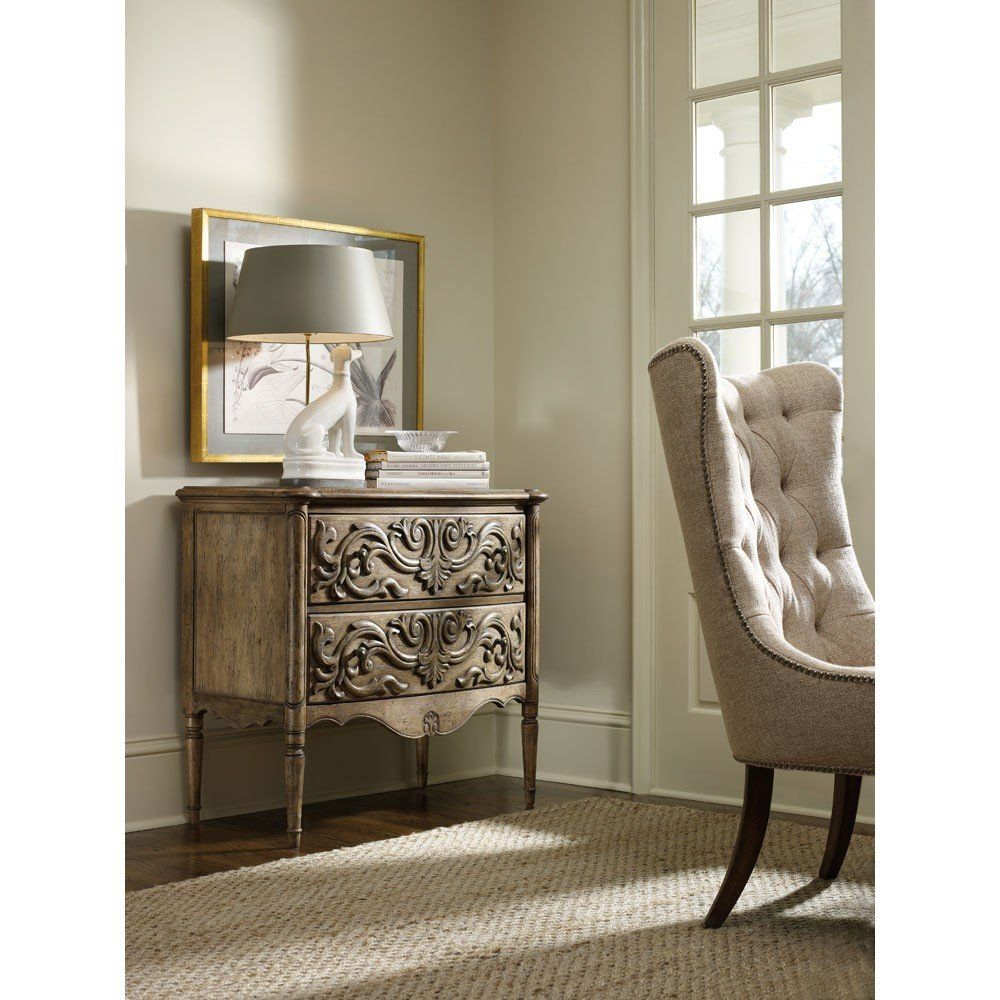 Hooker Furniture Chic Coterie 2 Drawer Carved Front