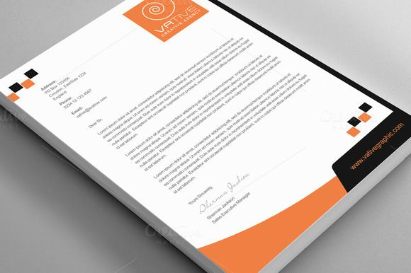Creative Agency Corporate Letterhead – Stationery Templates for Designers