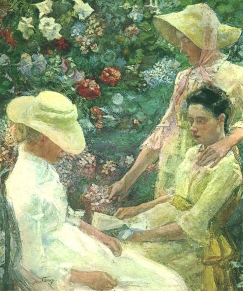 Jan Toorop, trio fleuri, 1886