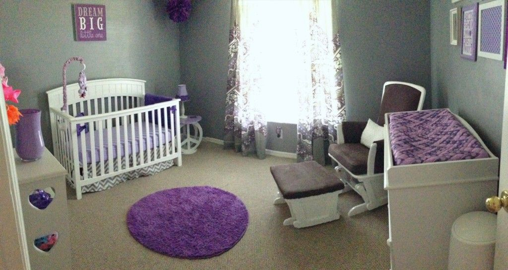 Ariana S Gray And Purple Nursery Baby Room Rugs
