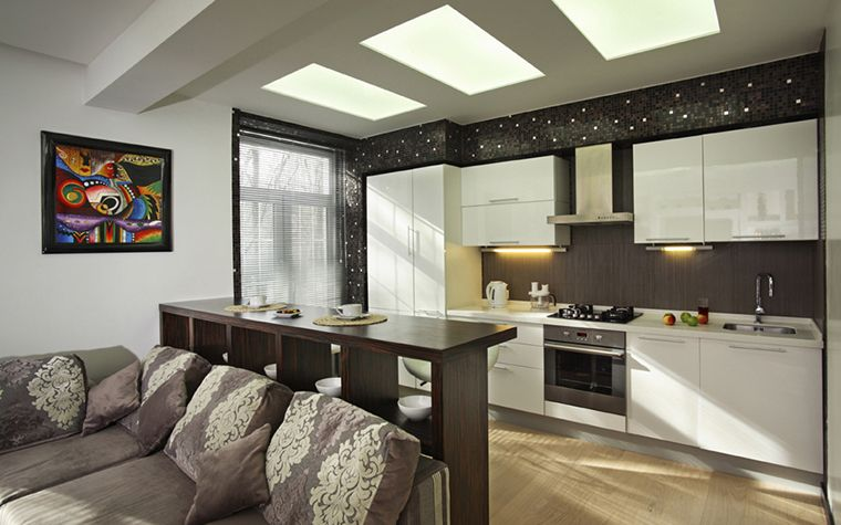 Барная стойка для кухни гостиной фото дизайн