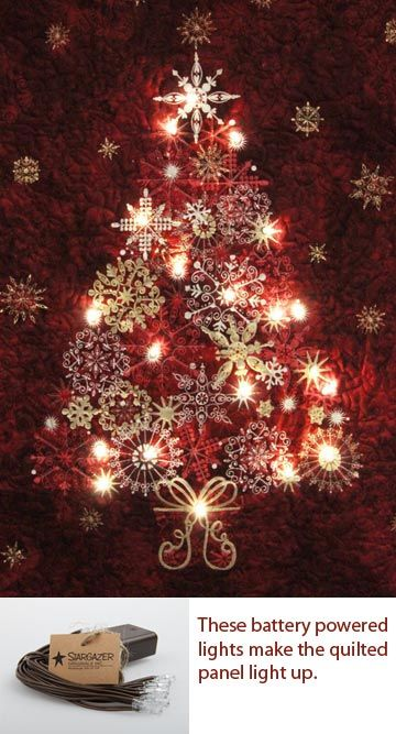 Light Up - Starry Night - Kit A gorgeous Christmas Tree Panel that would  look fantastic in your home this Christmas. The panel measures 24