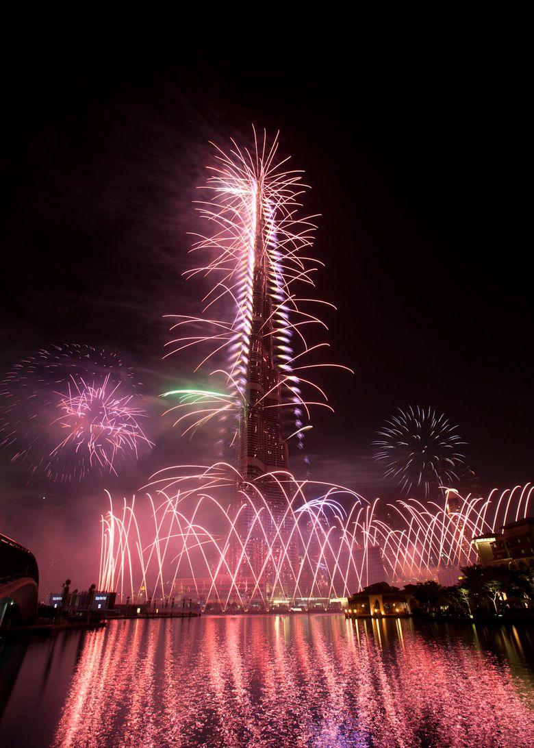 Dubai's New Year Fireworks Targets Guinness Book of World