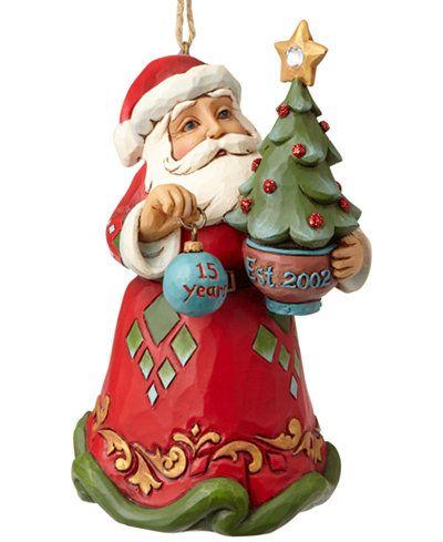 Jim Shore 15th Anniversary Santa With Tree Ornament Jim Shore Christmas Christmas Ornaments Christmas