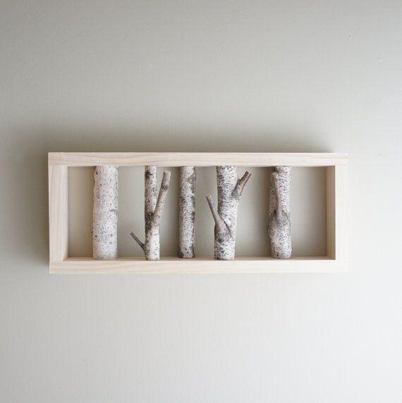 natural white birch forest wall art  made to par urbanplusforest, $80,00