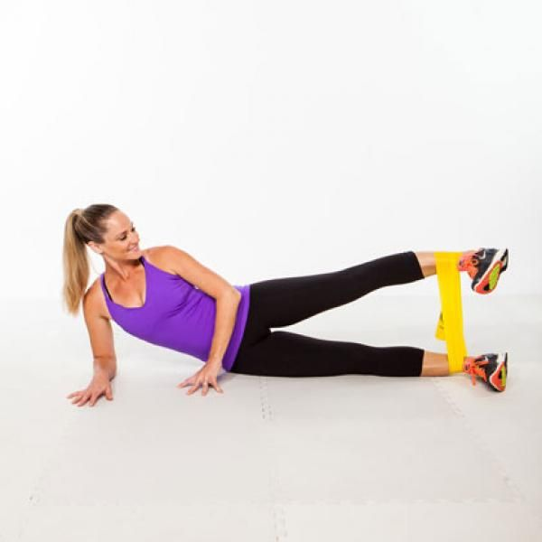 Image result for woman External Hip Raisewith Band