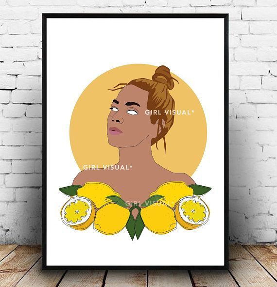 This beyonce wall art is inspired by an image taken, from the album ...