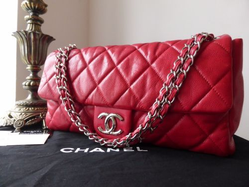 9a11b77a00c8 Chanel Large Nature Flap in Red Glazed Caviar with Silver Hardware - SOLD