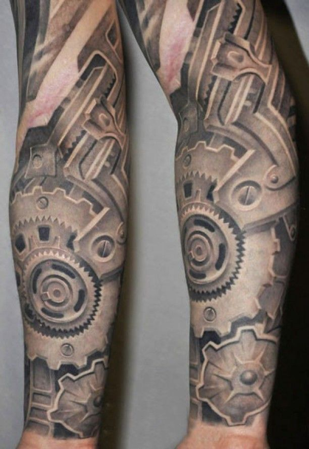 Zahnrader Biomechnik Arm Tattoo Tattoo