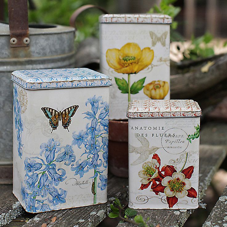 Attic Deals! Botanicals Canisters Set $19.50. Only 4 in stock.