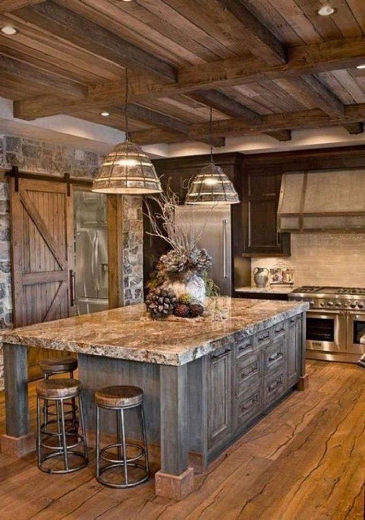 45 fashionable farmhouse kitchen design ideas rustic farmhouse kitchen rustic kitchen design on kitchen decor themes rustic id=72918