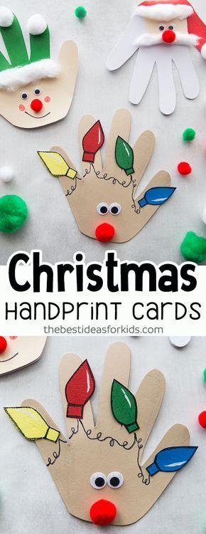 christmas handprint cards  the best ideas for kids