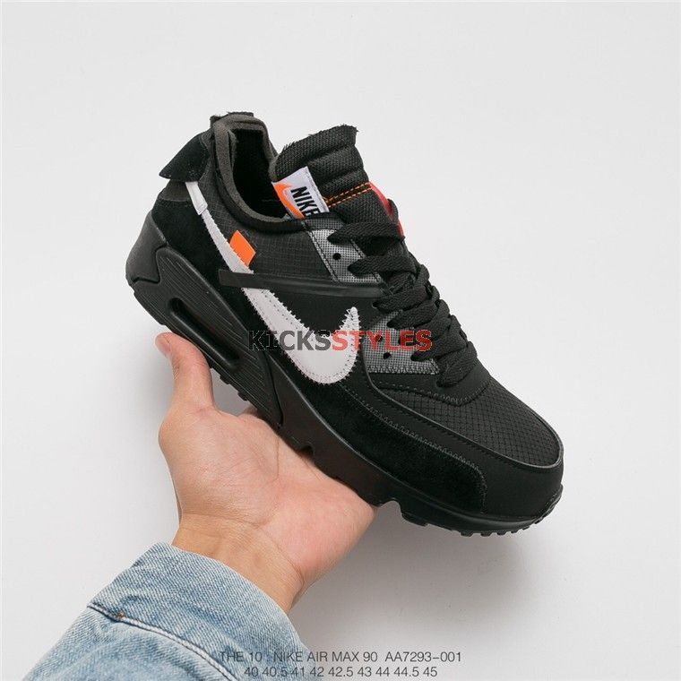 wholesale dealer 71955 105cf Off-White x Nike Air Max 90 Black shoes AA7293-001