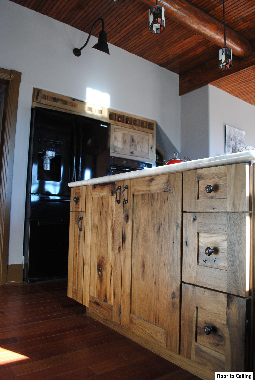 Log cabin kitchen remodel Installed Woodland cabinetry Rustic