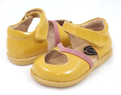 Papà Mary Jane Brevet Chaussures - Jaune Et Orange ynZbp5Rt
