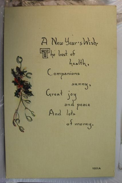new years greetings postcard old vintage card view standard souvenir postal post ebay new year