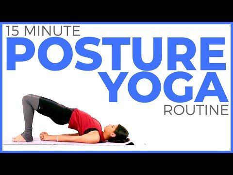 15 minute relaxing yoga for posture 💙 deep stretch yoga