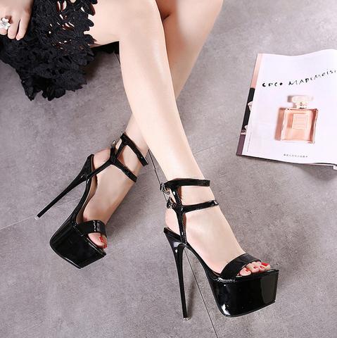 fe47d0eba Womens Stunning Open Toe Platform Strap Stiletto High Heels in 2019 ...