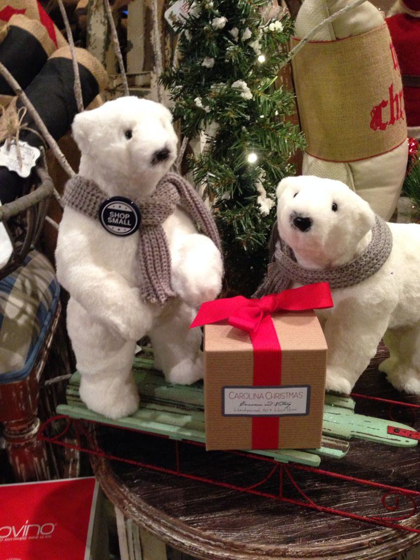 We're getting excited about Small Business Saturday tomorrow and thought our Holiday Polar Bears should show their support too! Be sure to #shopsmall #supportlocal #lakenorman #christmas #merrychristmas #shopping #retail #gifts
