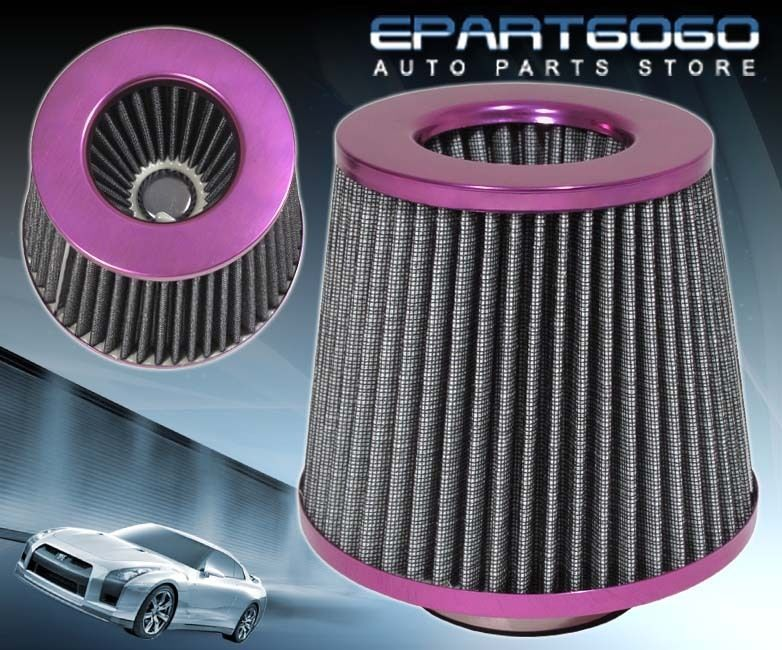 "3"" HIGH FLOW WASHABLE RACING AIR FILTER PURPLE HONDA CIVIC"