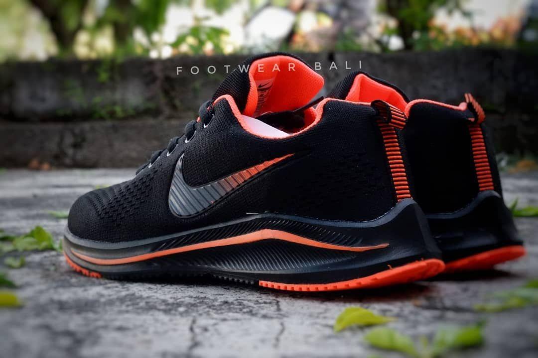 Nike Zoom Import Black Orange Kualitas Premium Kelengkapan