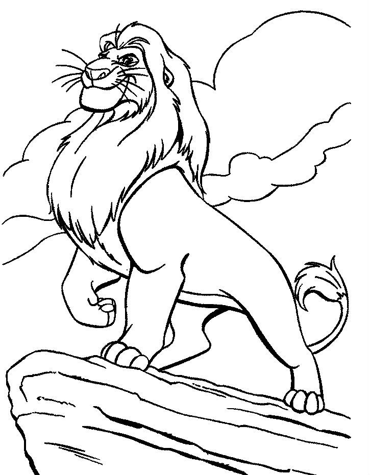 Pin Di Lion King Coloring Pages