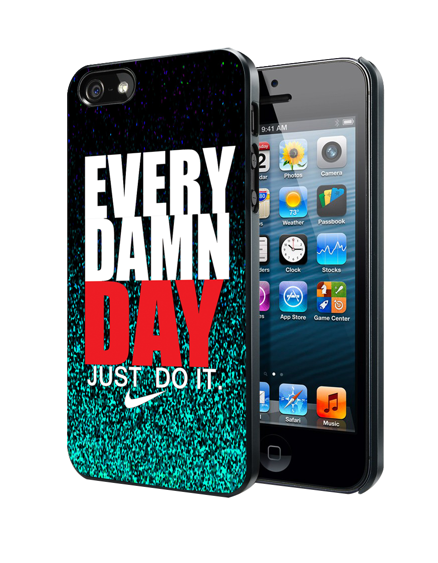 Glitter Every Damn Day Just Do It iPhone 4 4S 5 5S 5C Case