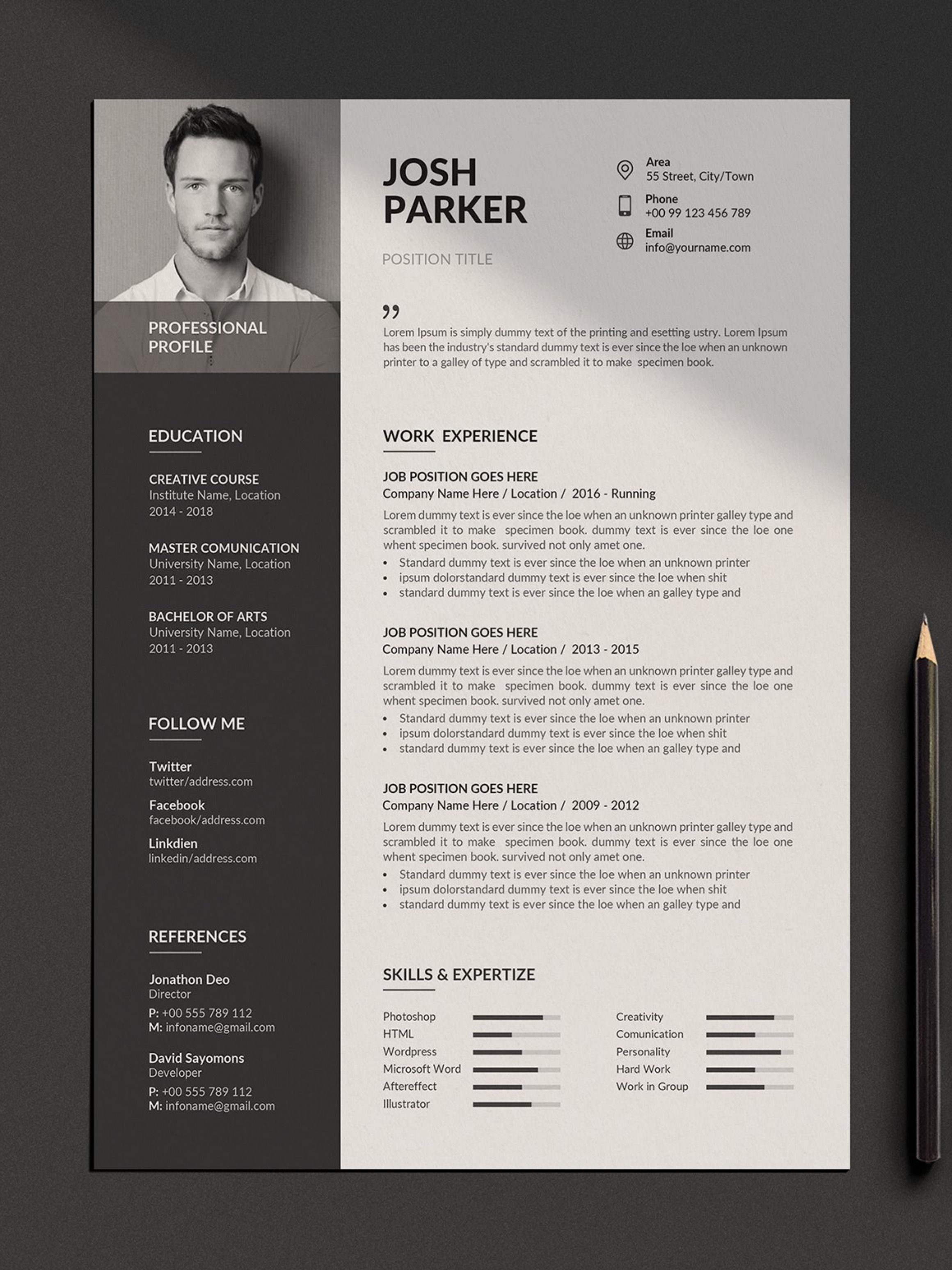 Resume Template Cover Letter Cv Template Resume For Word Creative Resume Resume Cover Letter Template Resume Template Cover Letter For Resume