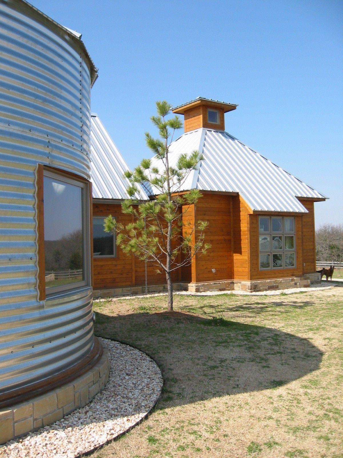 Use grain bin as building materiale