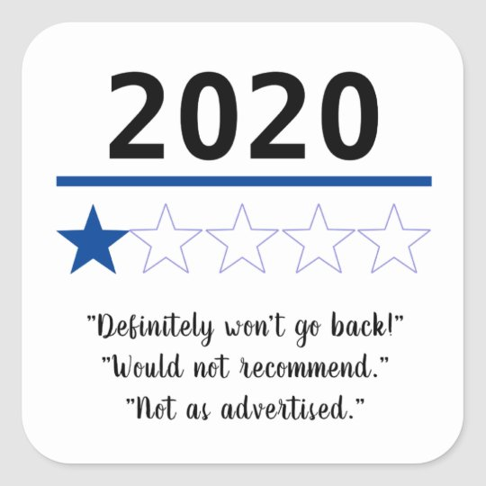 2020 Funny 1 Out Of 5 Stars Review Square Sticker Zazzle Com Sticker Labels Personalized Stickers Create Custom Stickers