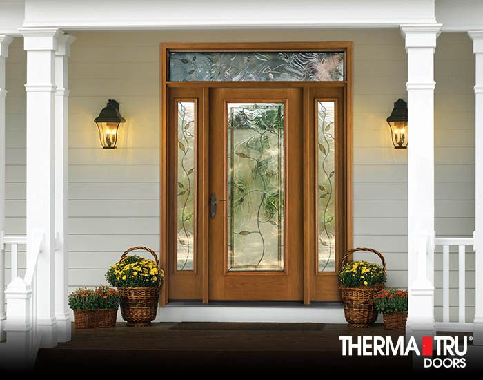 Therma Tru Fiber Classic Oak Collection Fiberglass Door With Avonlea