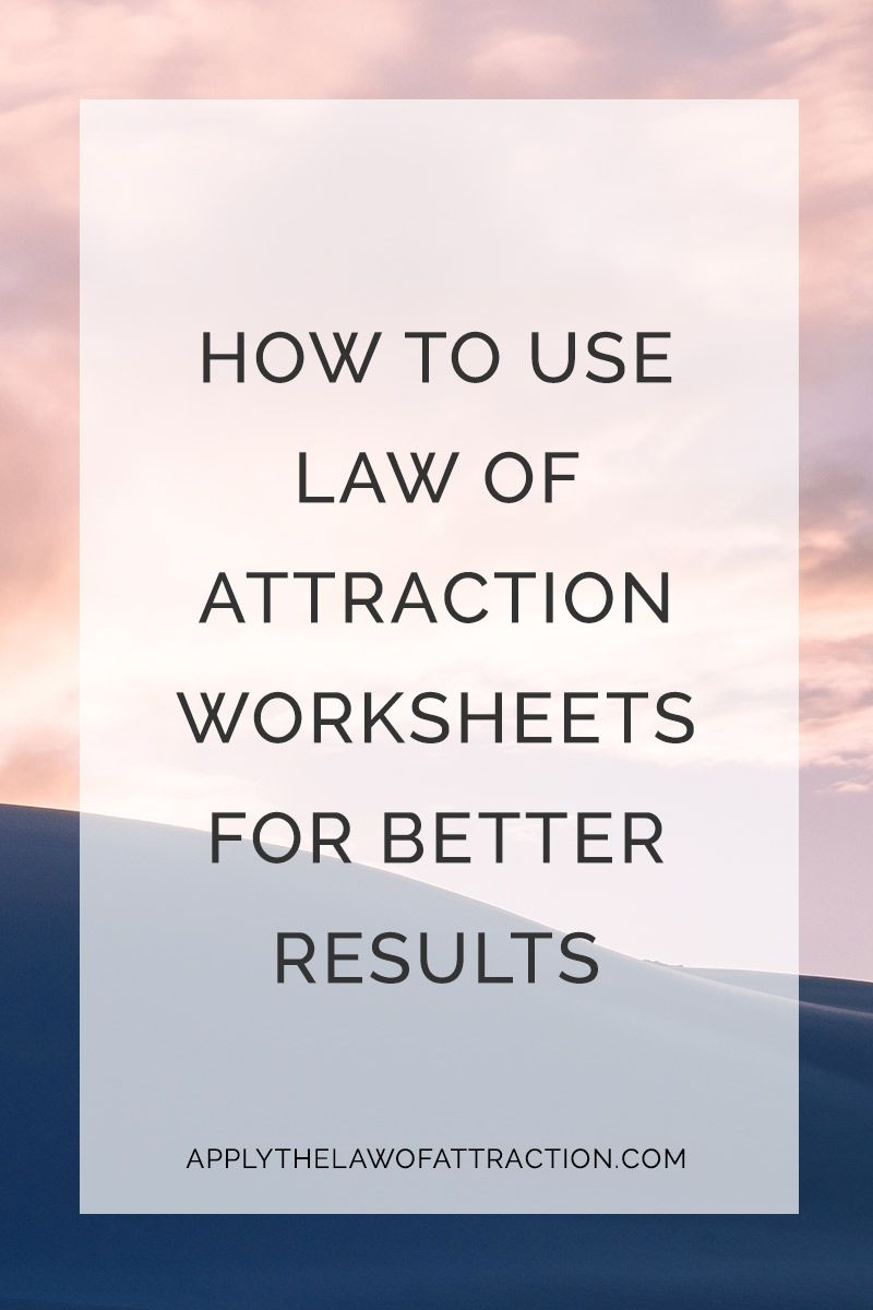 Free Law of Attraction PDF Worksheets Download & Print