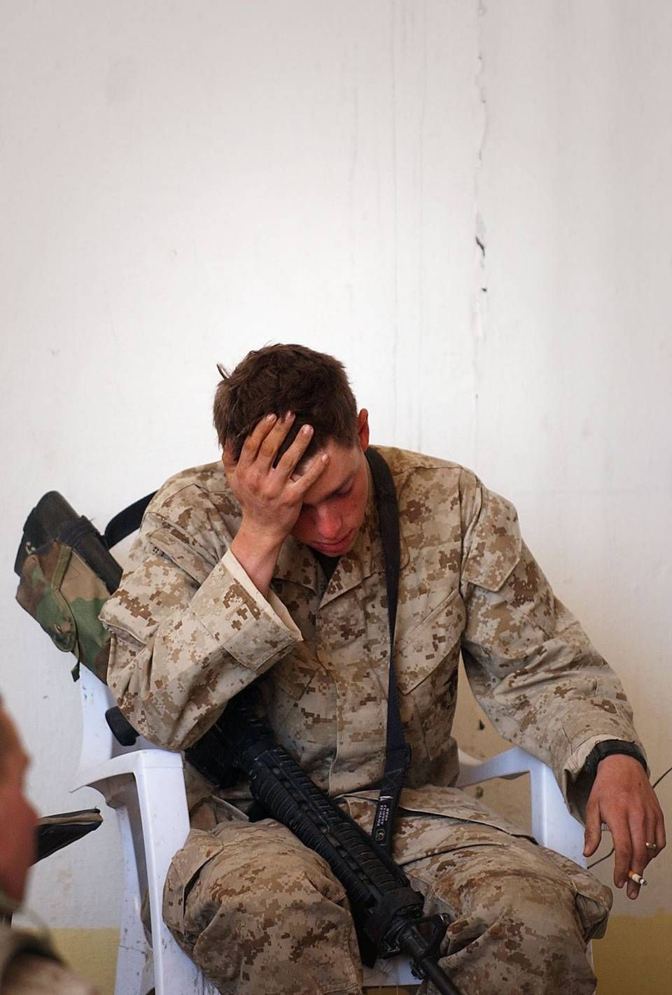 Daniel Turke Of Golf Company Rests As He Returns To A Command Base