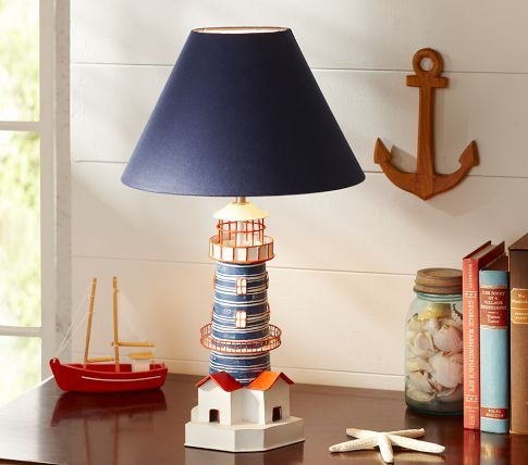 Lighthouse lamp pottery barn kids