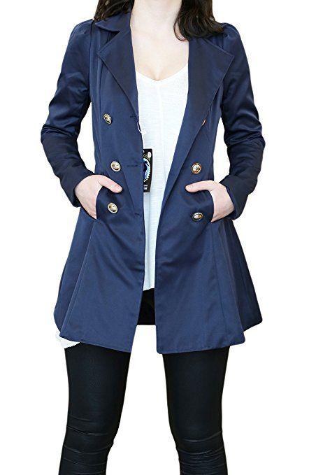 64926a4483c6 SODACODA Frauen Sanduhr Trenchcoat - Frühling Sommer Herbst - Elegante  Mantel Schöne Jacke - XS-