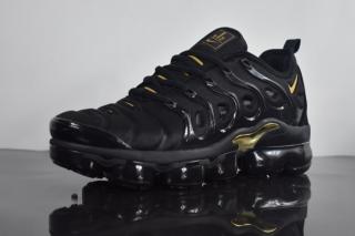 589d454cd0d Mens Shoes Nike Air VaporMax Plus TN Triple Black Gold