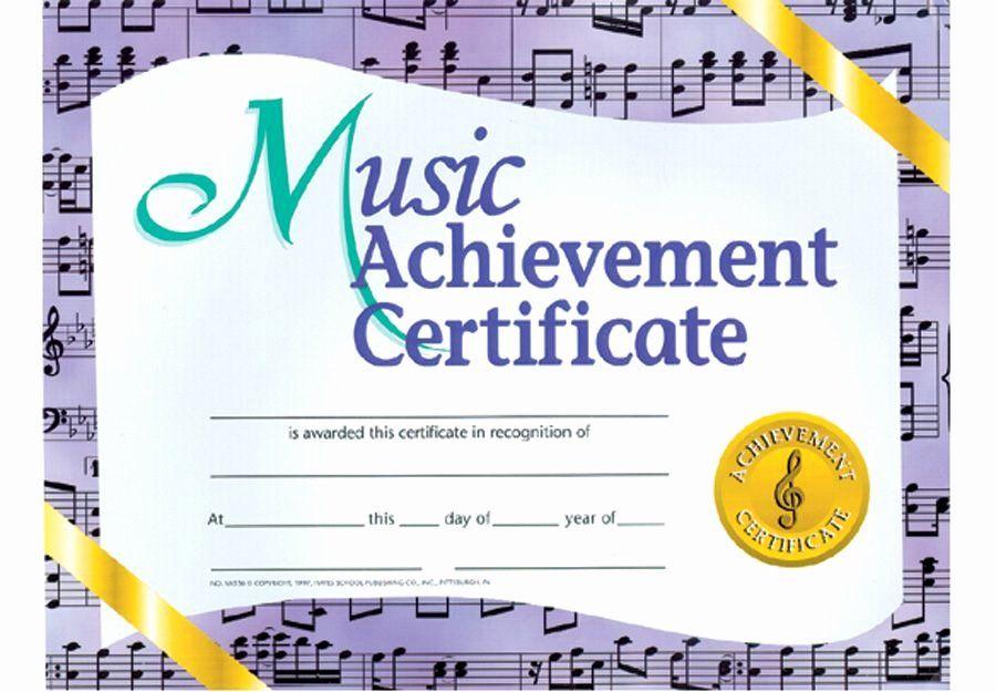 Music Award Certificate Templates Free Unique Award Certificate Template For Word Dann In 2021 Awards Certificates Template Certificate Templates Inspirational Music