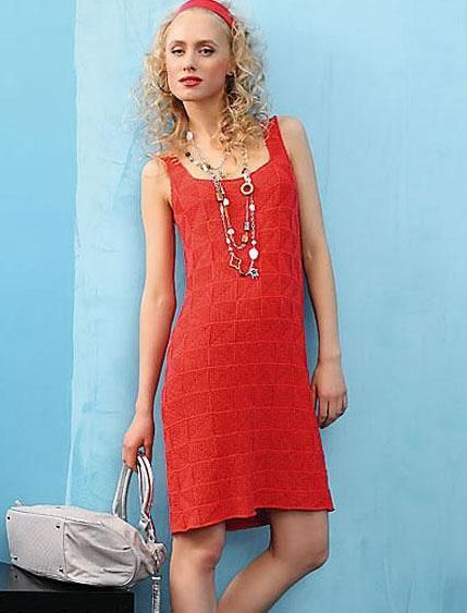 (6) Name: 'Knitting : Knit square motifs summer dress