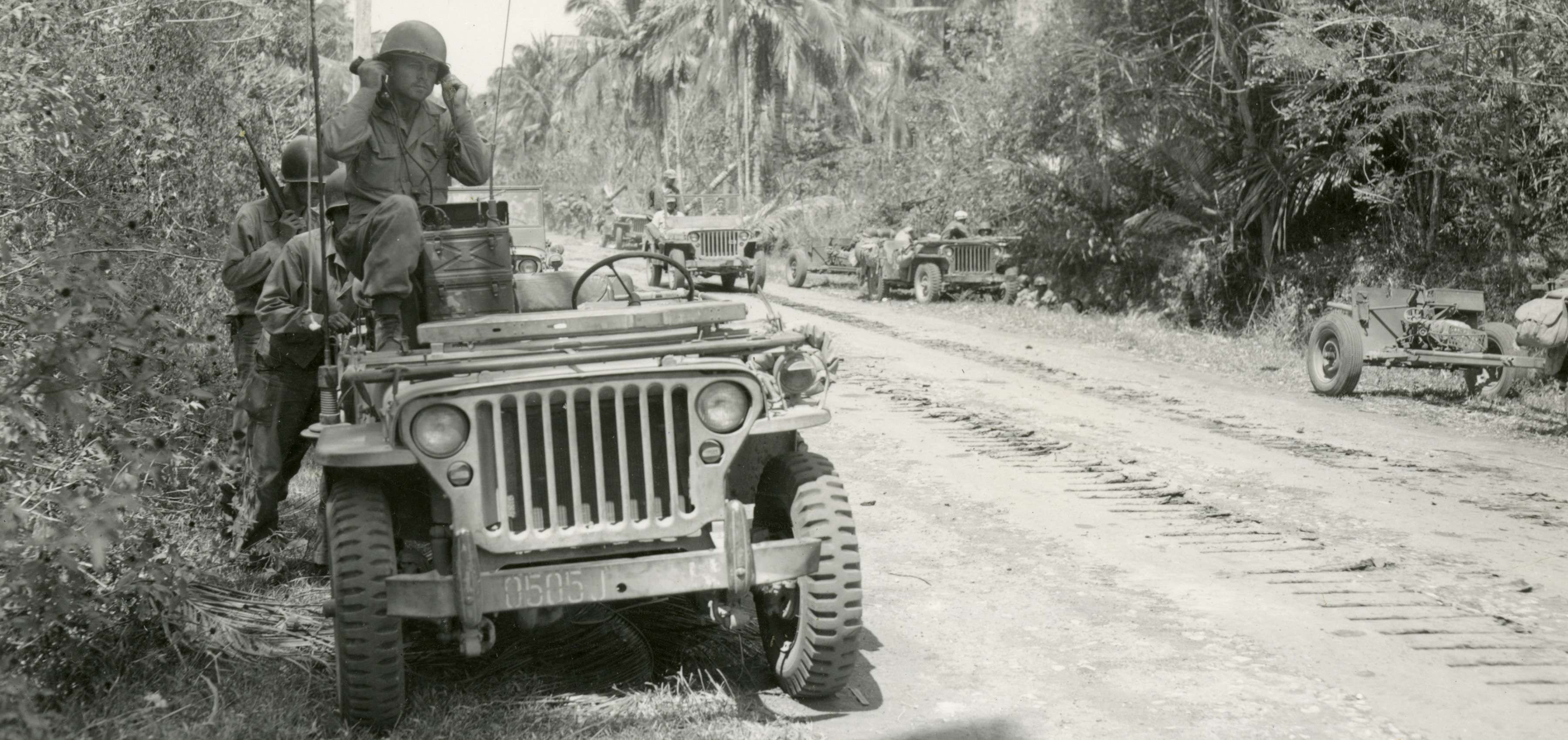 Soldier With Radio In Jeep Pacific Theater Philippines Oral History New Orleans Museums