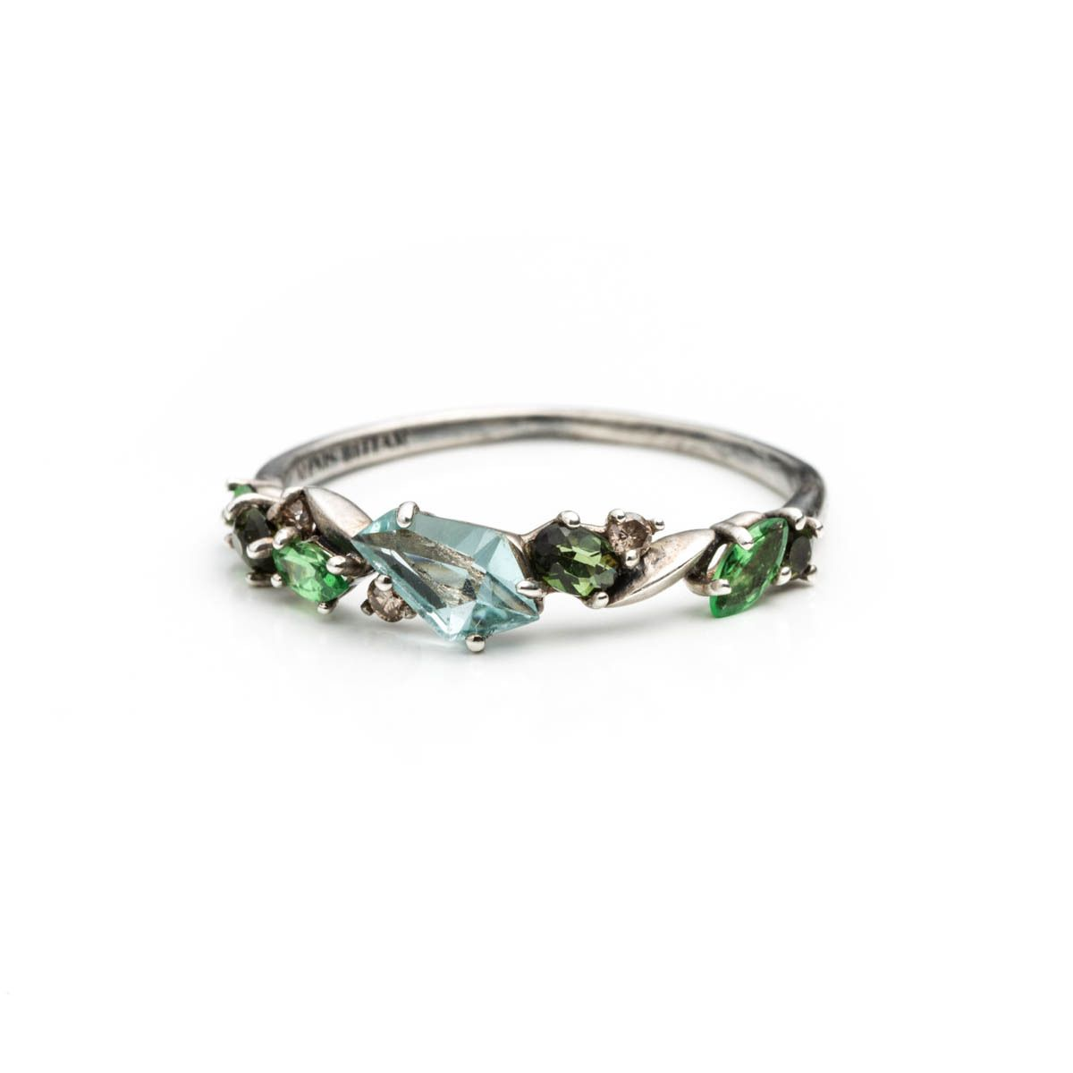 Cluster Bands: Juniper Marquis Small Cluster Band Ring