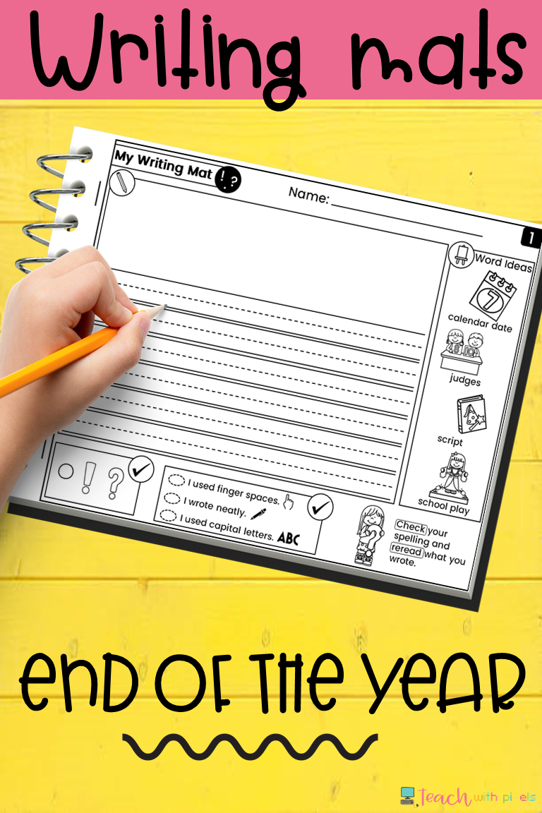 End Of The Year Activities Writing With Picture Prompts Printables Packet Printable Writing Prompts Elementary Writing Elementary Writing Prompts [ 1152 x 768 Pixel ]