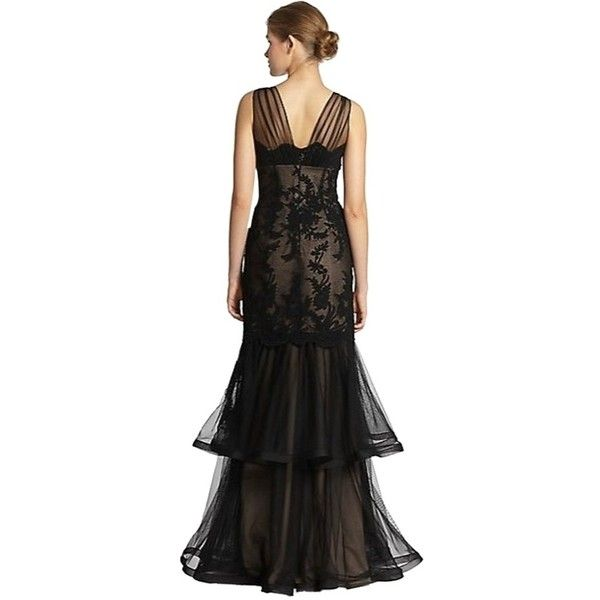 Pre-owned Teri Jon Black Mermaid Gown Dress (3.745.600 IDR ...