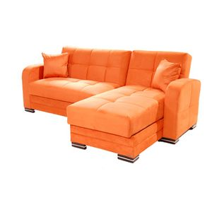 Kubo Sectional Sofa Rainbow Orange By Sunset Converts To Bed With