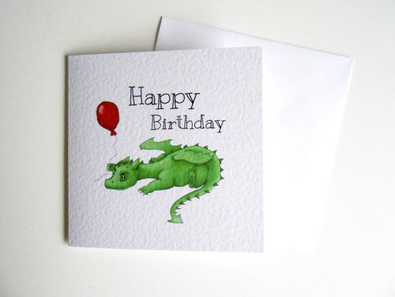 Personalised Green Dragon Any Age Birthday Card For Girl Etsy Handmade Birthday Cards Girl Birthday Cards Dragon Birthday