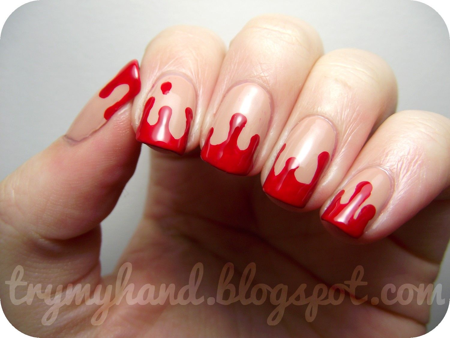 Halloween Nails : Blood Drips | Halloween nails easy ...