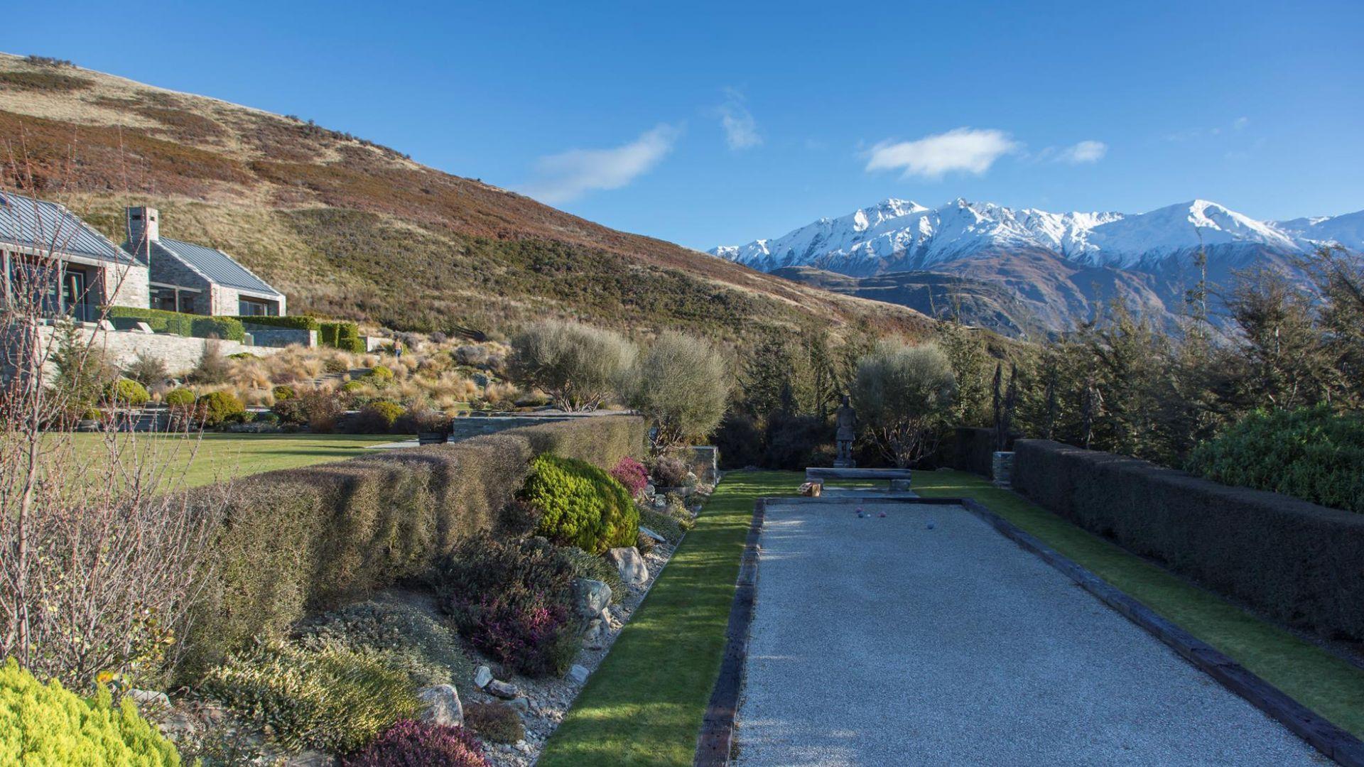 Piwakawaka Luxury Wanaka Villa Looks Like A Pentaque Court Is