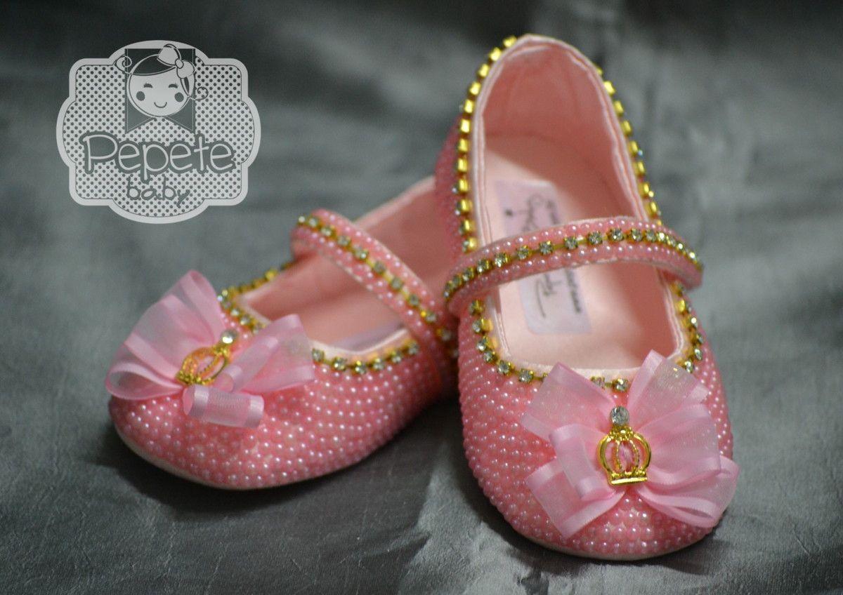 Sapatinho Princesa Rosa CETIM