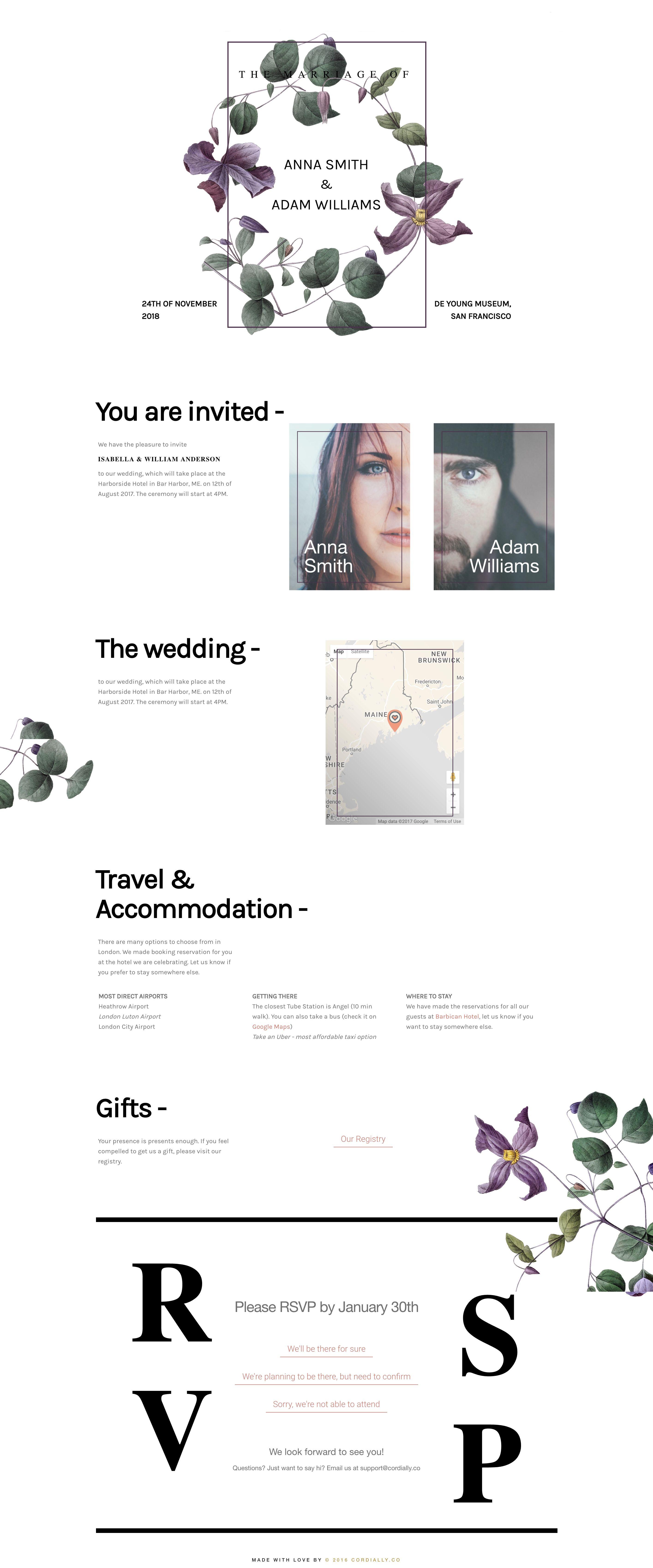 Greenery online wedding invitation for design savvy people ...