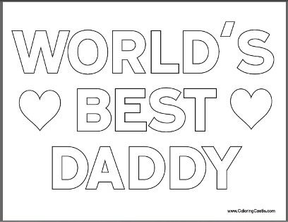 Free Fathers Day Coloring Pages For Kids