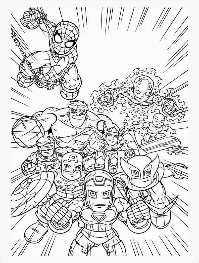 Free Marvel Coloring Pages Di 2020